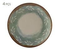 Jogo de Pratos para Sobremesa em Cerâmica Coup Mediterrâneo Estampado - 06 Pessoas | WestwingNow