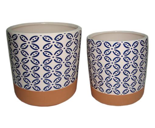 Jogo de Cachepots Creedon - Azul e Marrom, Branco, Azul | WestwingNow