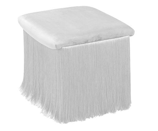 Pufe de Algodão com Franja Breeze - Branco, Branco   WestwingNow