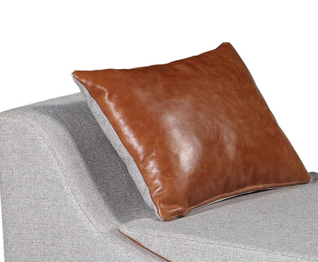 Chaise em Couro Flag - Cinza Claro | WestwingNow