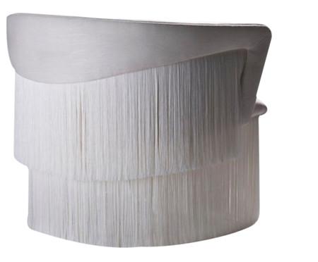 Conjunto de Poltrona e Mesa Lateral Wind - Off White | WestwingNow