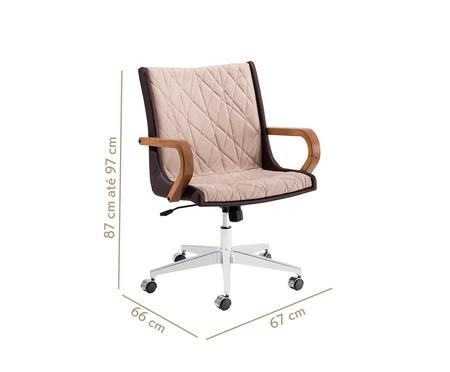 Cadeira de Escritório Giratória Nido Encosto Baixo - Marrom | WestwingNow
