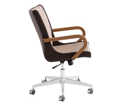 Cadeira de Escritório Giratória Ninho Encosto Baixo - Marrom | WestwingNow