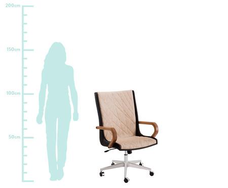 Cadeira de Escritório Giratória Nido Encosto Alto - Marrom | WestwingNow