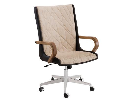 Cadeira de Escritório Giratória Nido Encosto Alto - Marrom, Marrom | WestwingNow