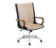 Cadeira de Escritório Giratória Ninho Encosto Alto - Marrom | WestwingNow