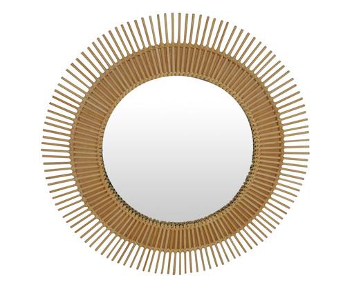 Espelho de Parede de Bambu Beni - Marrom, Bege, Espelhado | WestwingNow