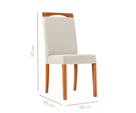 Cadeira em Madeira e Tecido Luana - Cinza | WestwingNow