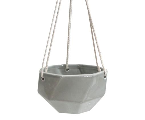 Cachepot de Cerâmica com Alça Lee - Cinza, Cinza | WestwingNow