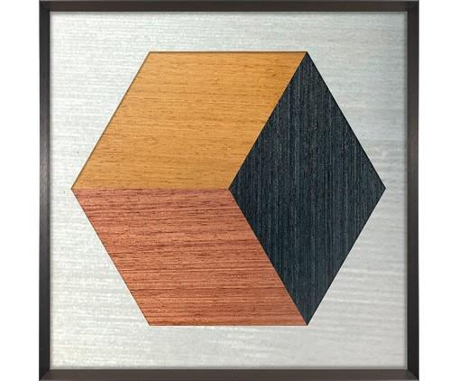 Quadro Hexa Wood ll - Marcio Pontes, Multicolorido   WestwingNow