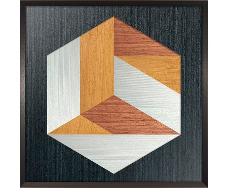 Quadro Hexa Wood l - Marcio Pontes | WestwingNow