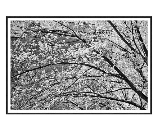 Quadro White Cherry Nova York - Preto e Branco, Preto,Branco   WestwingNow