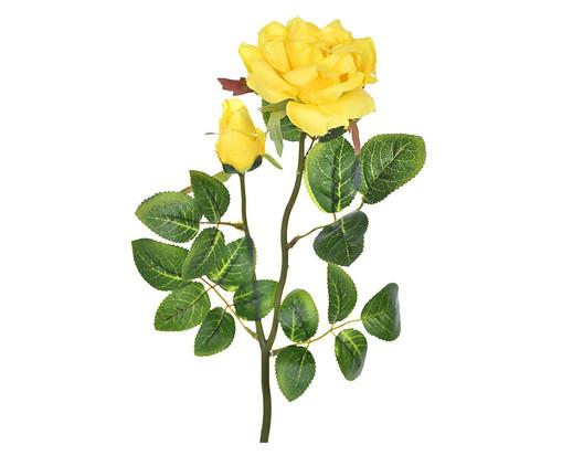 Planta Permanente com Haste Rosa e Botão Amarela, Amarelo | WestwingNow