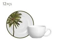 Jogo de Xícaras em Cerâmica para Café Lia 06 Pessoas - Colorido | WestwingNow