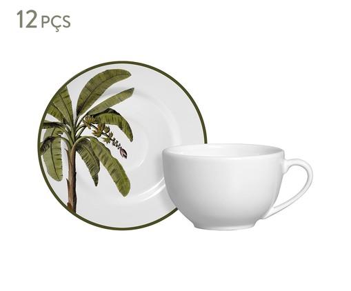 Jogo de Xícaras para Chá em Cerâmica Lia 06 Pessoas - Estampado, Verde | WestwingNow