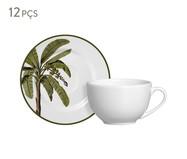 Jogo de Xícaras para Chá em Cerâmica Lia 06 Pessoas - Estampado | WestwingNow