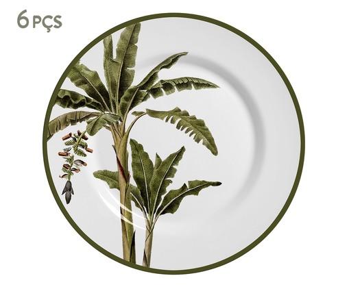 Jogo de Pratos para Sobremesa em Cerâmica Lia - 06 Pessoas, Verde | WestwingNow