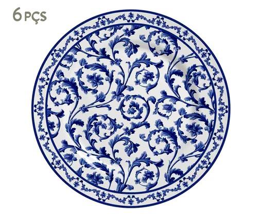 Jogo de Pratos para Sobremesa em Cerâmica Nina - Azul, Azul | WestwingNow