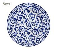 Jogo de Pratos para Sobremesa em Cerâmica Nina - Azul | WestwingNow