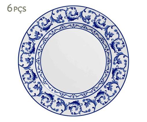 Jogo de Pratos Rasos Nina Azul - 06 Pessoas, Azul | WestwingNow