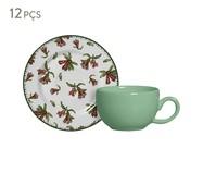 Jogo de Xícaras para Café em Cerâmica Mira - Verde e Vermelho | WestwingNow