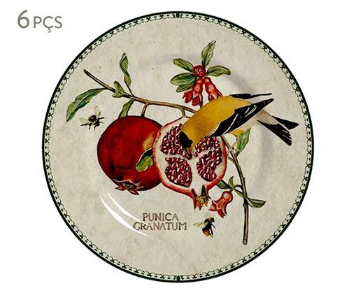Jogo de Pratos para Sobremesa em Cerâmica Mira - 06 Pessoas, Vermelho | WestwingNow
