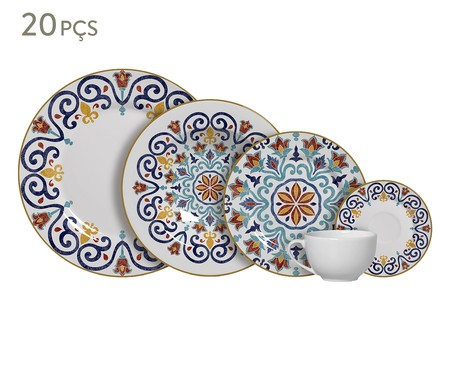 Jogo de Jantar em Cerâmica Mila - 04 Pessoas | WestwingNow