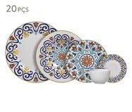 Jogo de Jantar em Cerâmica Mila Estampado - 04 Pessoas | WestwingNow