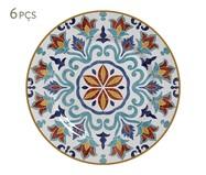 Jogo de Pratos para Sobremesa em Cerâmica Mila - Colorido | WestwingNow