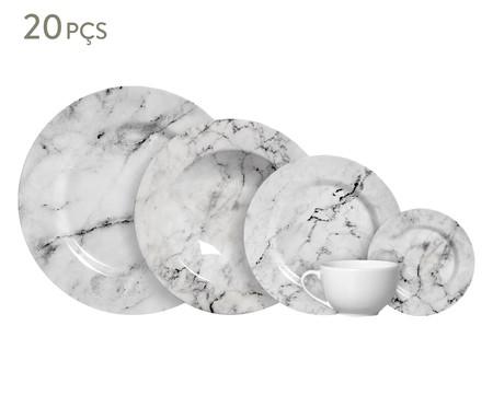Jogo de Jantar em Cerâmica Greta Cinza - 04 Pessoas | WestwingNow