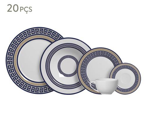 Jogo de Jantar em Cerâmica Dani 04 Pessoas - Azul, Azul | WestwingNow