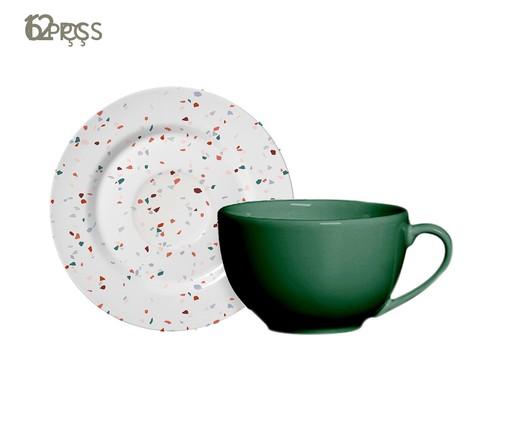 Jogo de Xícaras para Café em Cerâmica Carla 06 Pessoas - Estampado, Colorido | WestwingNow