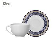 Jogo de Xícaras para Chá em Cerâmica Dani - Azul | WestwingNow