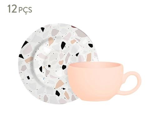 Jogo de Xícaras para Chá em Cerâmica Carla 06 Pessoas - Estampado, Colorido | WestwingNow