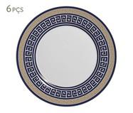 Jogo de Pratos para Sobremesa em Cerâmica Dani - Azul | WestwingNow