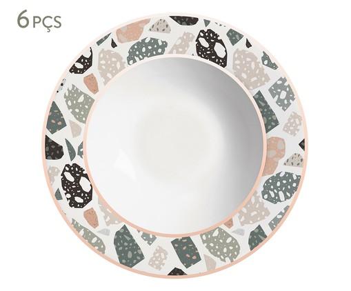 Jogo de Pratos Fundos em Cerâmica Carla 6 Pessoas - Estampado, Colorido | WestwingNow