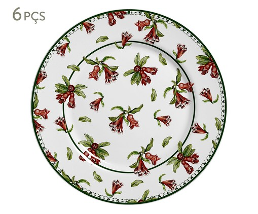 Jogo de Pratos Rasos em Cerâmica Mira - Vermelho, Vermelho | WestwingNow