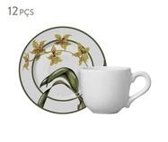 Jogo de Xícaras e Pires para Café em Cerâmica Mia - Colorido | WestwingNow