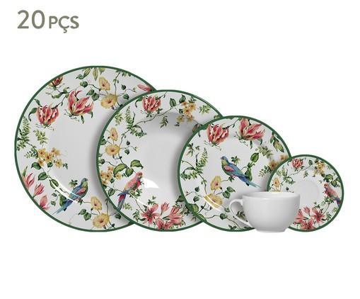 Jogo de Jantar em Cerâmica Lara Estampado - 04 Pessoas, Colorido | WestwingNow