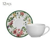 Jogo de Xícaras e Pires para Chá em Cerâmica Lara - Colorido | WestwingNow