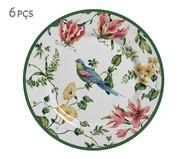 Jogo de Pratos para Sobremesa em Cerâmica Lara Colorido - 06 Pessoas | WestwingNow