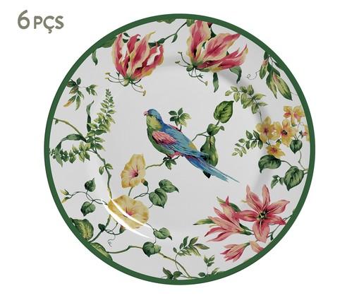 Jogo de Pratos para Sobremesa em Cerâmica Lara Colorido - 06 Pessoas, Colorido | WestwingNow
