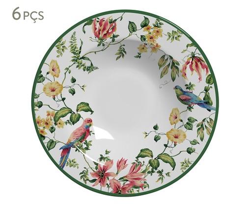 Jogo de Pratos Fundos em Cerâmica Lara 06 Pessoas - Estampado, Colorido | WestwingNow