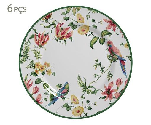 Jogo de Pratos Rasos em Cerâmica Lara 06 Pessoas - Estampado, Colorido | WestwingNow