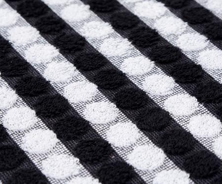 Toalha de Banho Bolinhas - Branco e Preto | WestwingNow