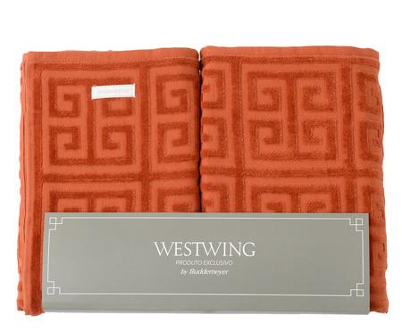 Jogo de Toalhas Chave Grega - Caramelo | WestwingNow