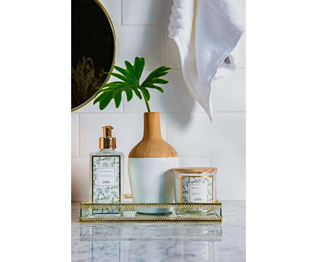Vaso de Cerâmica Chuck Joe - Branco e Bege | WestwingNow