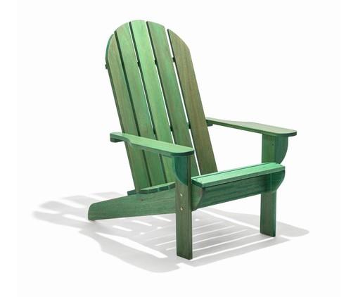 Cadeira Adirondack Michigan com Peseira - Verde, Verde   WestwingNow