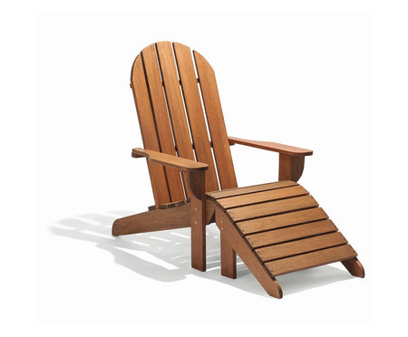 Cadeira Adirondack Michigan com Peseira - Nogueira | WestwingNow