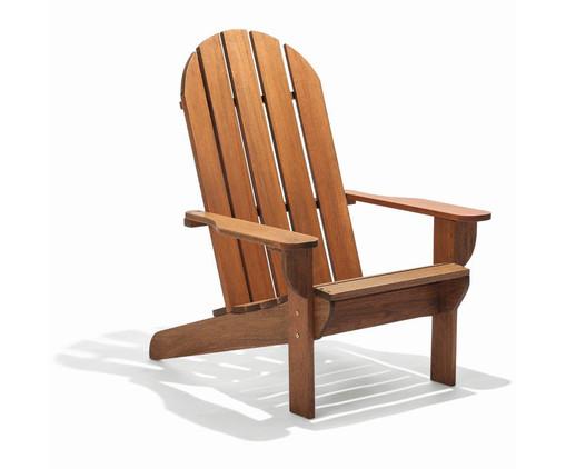 Cadeira Adirondack Michigan com Peseira - Nogueira, Marrom | WestwingNow